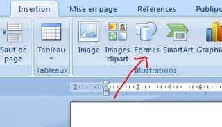 Comment relier des choses par un trait dans un fichier.
