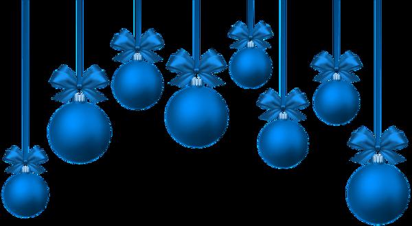 Boules de sapins en bleu