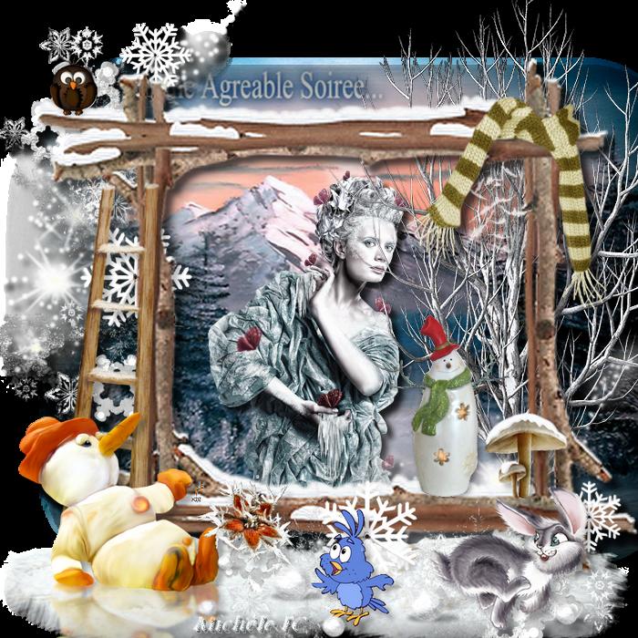 Cluster bonhomme de neige Babouchka