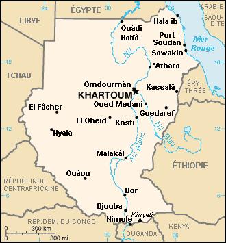 Soudan carte