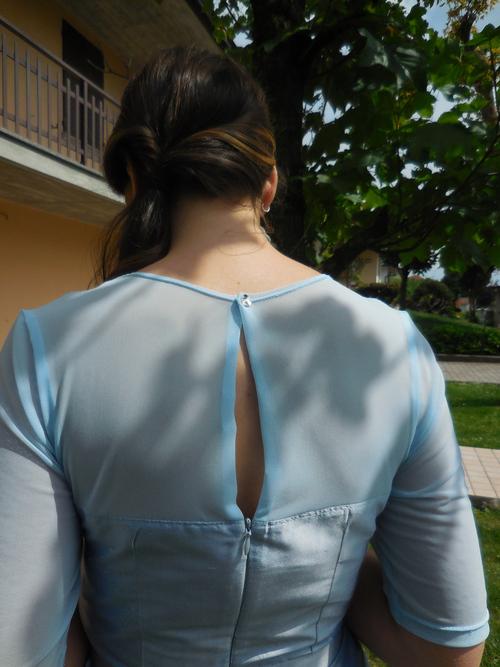 Robe de Diane pour le mariage de son amie Silvia finitions