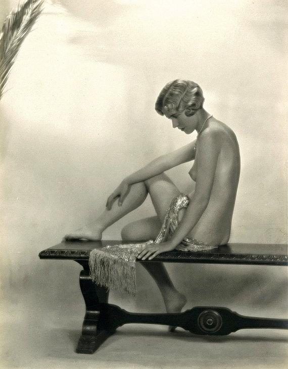 années 1920 ère nue Image Flapper-Classic - noir & blanc - différentes tailles - Code pré Jazz Age Sexy [730-483]