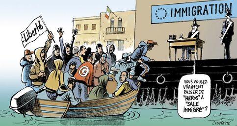 """Résultat de recherche d'images pour """"chappatte migrant"""""""""""