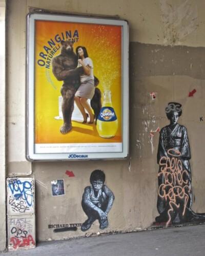 Orangina affiche street-art