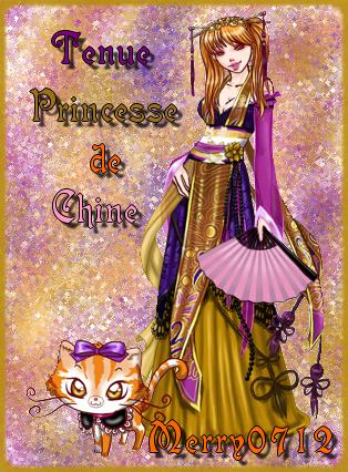 Tenue princesse de chine