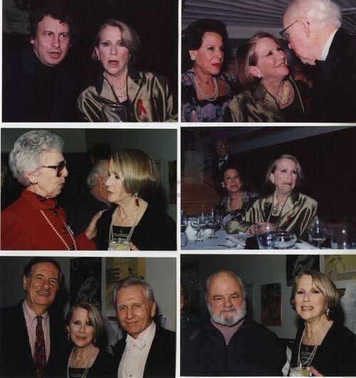 Julie Harris accompagnée de différentes personnes.