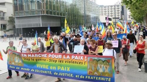 Rennes. 400 personnes ont marché pour la paix (OF.fr 24/09/2016)