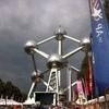 Promenade en vélo autour de l'Atomium