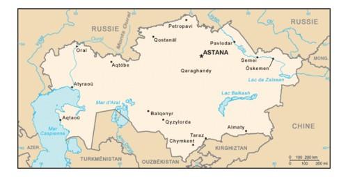 450px-Carte Kazakhstan
