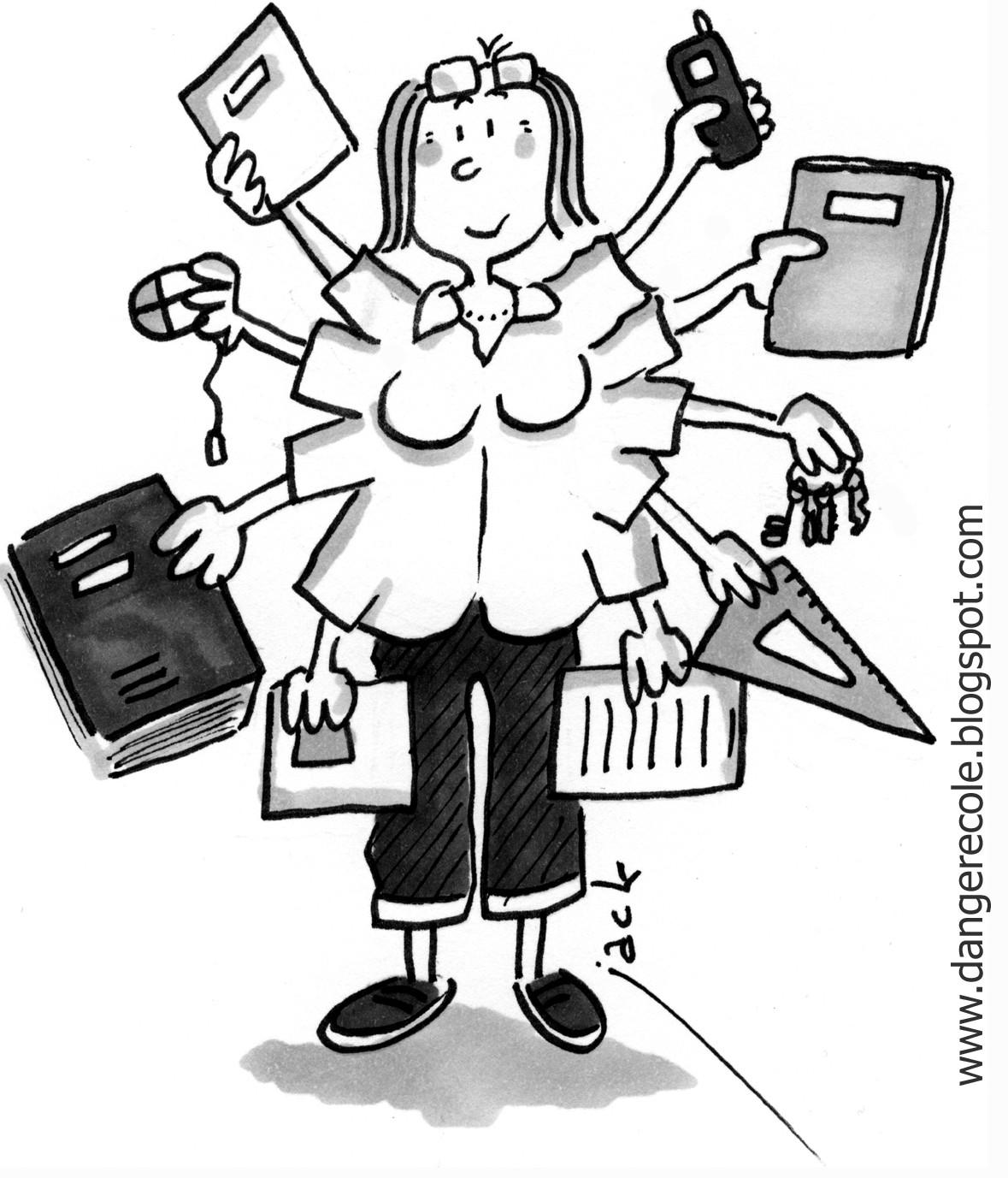 Dans la caisse outils de ma tresse ecline il y a chez ma tresse ecline - Coloriage pour la maitresse ...