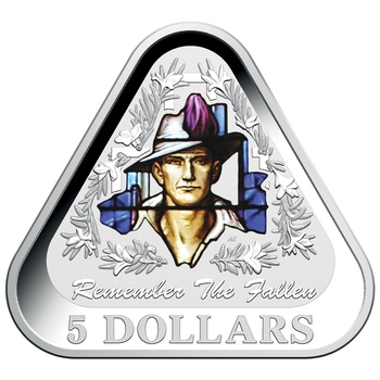 AUSTRALIE UNE PIECE TRIANGULAIRE EN ARGENT DE 5 DOLLARS