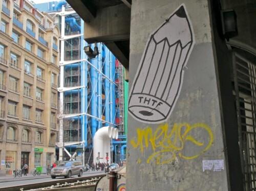 street-art papier Beaubourg THTF 0503