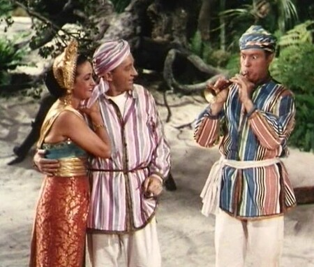Dorothy Lamour, Big Crosby et Bob Hope dans In road to Bali