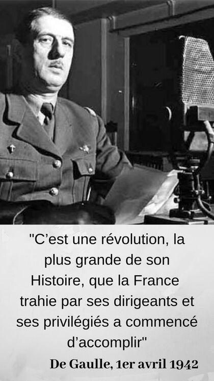 """De Gaulle le Résistant précise le sens de l'Histoire : """"Il se crée une France entièrement nouvelle dont les guides seront des hommes nouveaux"""" #citations #citation #histoire #DeGaulle #WW2 #Résistance #SecondeguerreMondiale"""