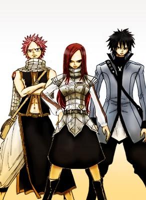 Erza, Grey, Natsu, plus fort, tu meurs !