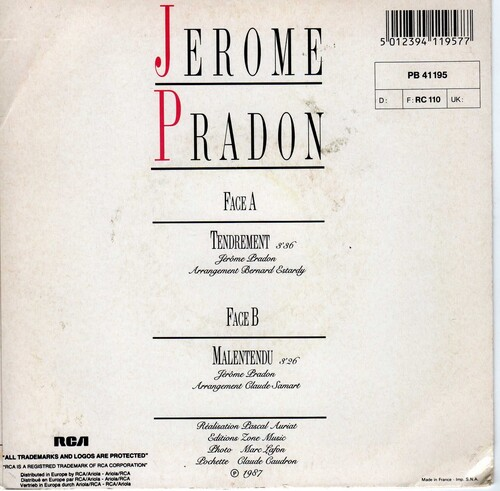 Jerome Pradon - Tendrement (1987) 02