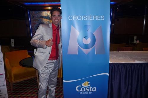 M6 Croisières, présents à bord du Costa Serena