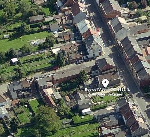Souvret - vue aérienne du Temple de la rue de l'Avenir