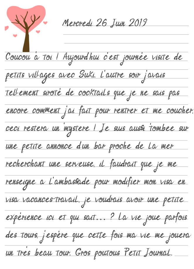 Journal de Mireille, 26 Juin 2019
