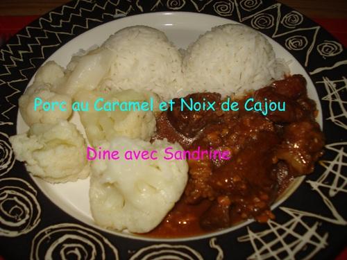 Du Porc aux Noix de Cajou et Caramel