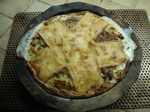 Tarte au Lard et Raclette 7