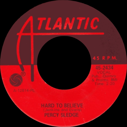 "Percy Sledge : Album "" The Percy Sledge Way "" Atlantic Records SD 8146 [ US ]"