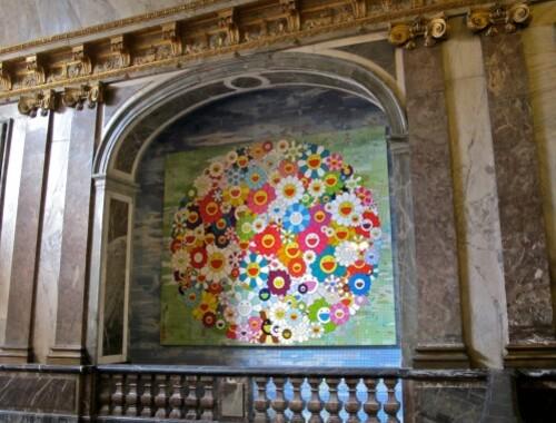 Murakami Versailles Fleurs papier peint 0131
