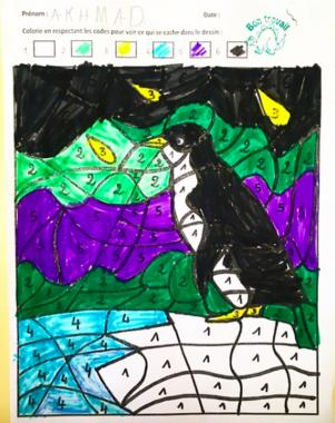 coloriage magique : Pingouin