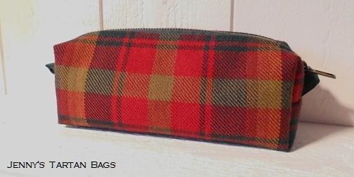 Maple Leaf tartan pencil case