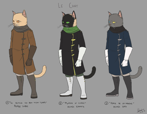 Character design : le chat