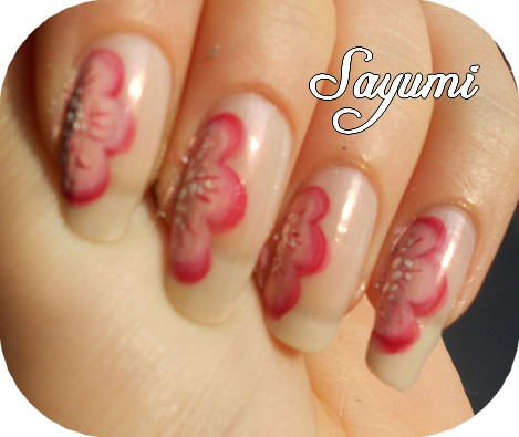 Nail Art Romantic Flower