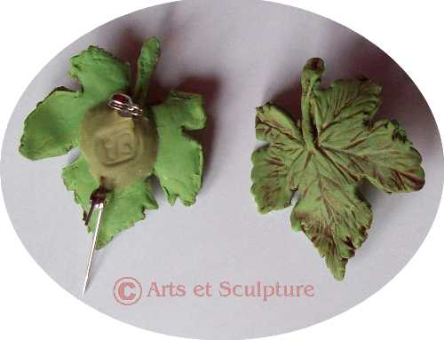 broche feuille de vigne - Arts et Sculpture: sculpteur mouleur