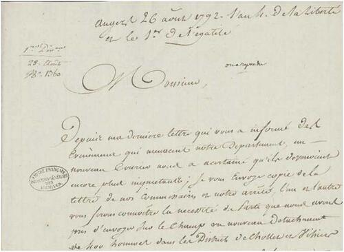 1792, vu depuis le Maine-et-Loire....