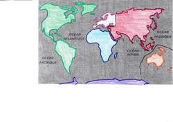 Colorier le planisphère