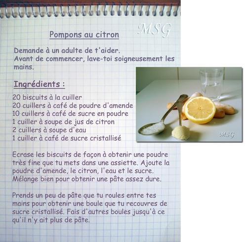 Pompons au citron