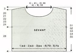 PULL MARINE schéma devant