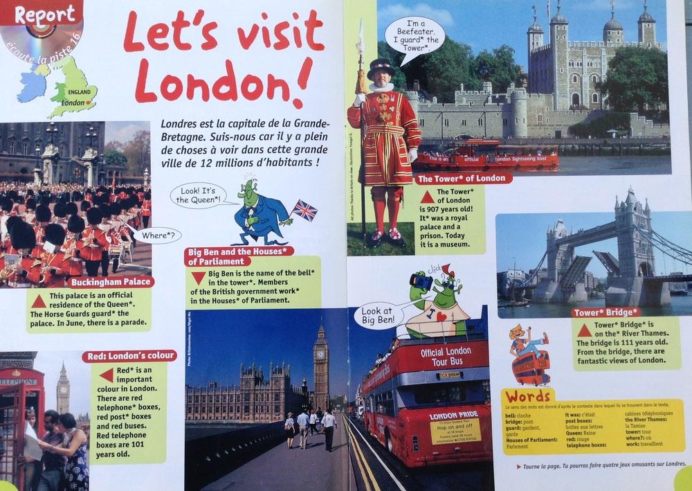 CE2/3 Int. - English Symbols & Let's VISIT London: bilan lecture