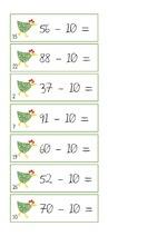 jeu: calculs +1  -1  +10  -10