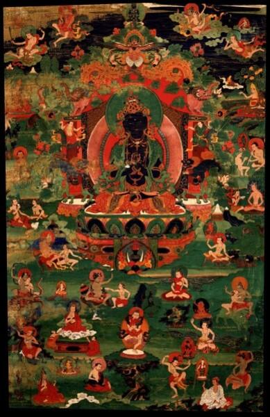 Vajradhara Buddha with 84 mahasiddha