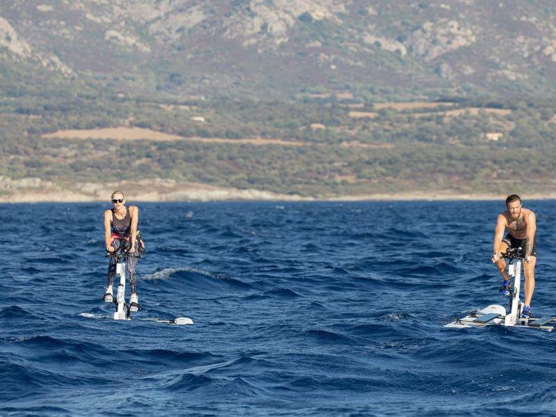 Monaco water bike challenge