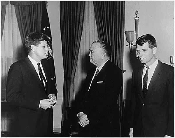 John Kennedy, J.Edgar Hover et Robert Kennedy