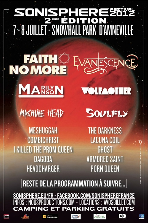 SONISPHERE FRANCE REPOND A VOS QUESTIONS!!