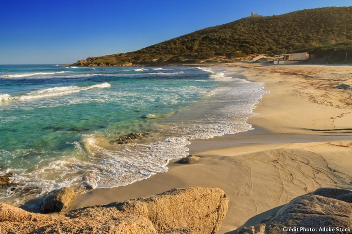 La plage de Bodri, en Haute-Corse