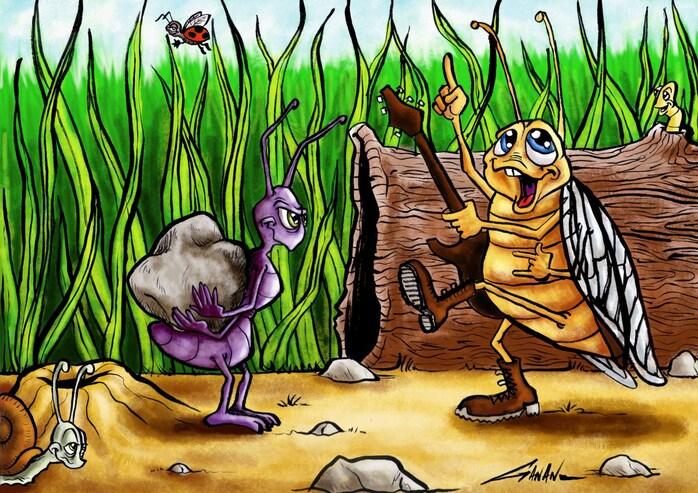 La cigale et la fourmi  II