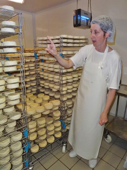 Visite de la fromagerie des Marronniers à Origny sur Seine...