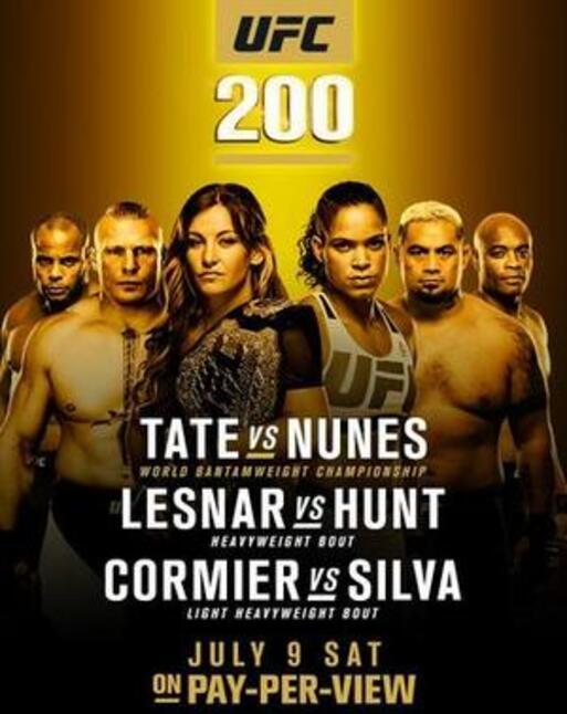 affiche UFC 200 : Tate vs Nunes