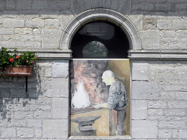 Nantilly lavoir - peinture Frédéric Spinzi