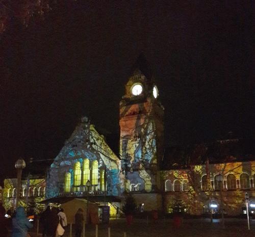 Ma ville la nuit à Noël...