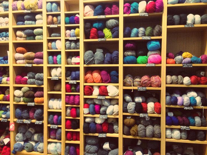 L'atelier chaussettes de chez Maille à part.