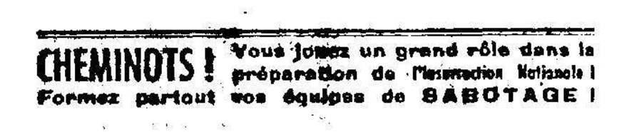 10 août 1944 - 10 août 2014 - L'insurection parisienne à l'appel des cheminots